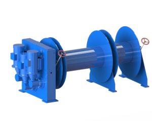 Deck equipment electrical mooring winch