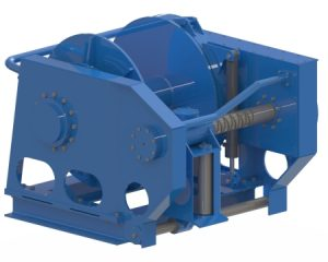 Deck equipment trawl winch